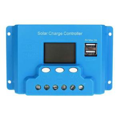 LCD Solar Battery Regulator PWM Charge Discharge Controller 10A 12V/24V FT