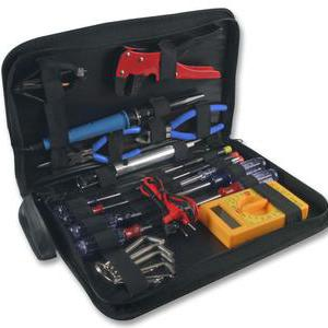 DURATOOL 25 Piece Electronic Tool Kit in a Zipped Tool Bag