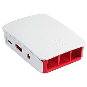 RASPBERRY-PI-CASE  ENCLOSURE, RPI 2 & B+, RASPBERRY & WHITE